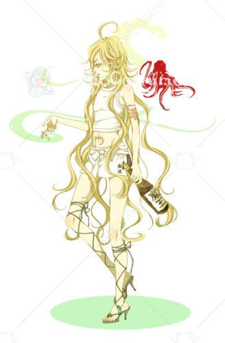 ZONE OO BENTEN Cosplay Tattoo Sticker