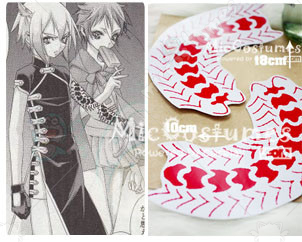ZONE OO Shinjuro Cosplay Tatoo Sticker
