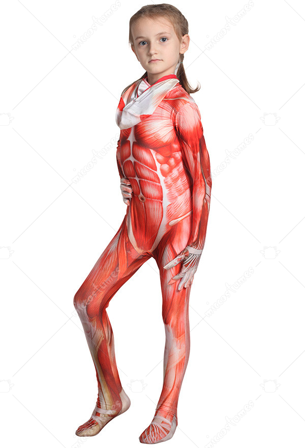 Attack On Titan Lycra Spandex Full Body Zentai Suit 3d Digital Printing Muscle Suit Costume