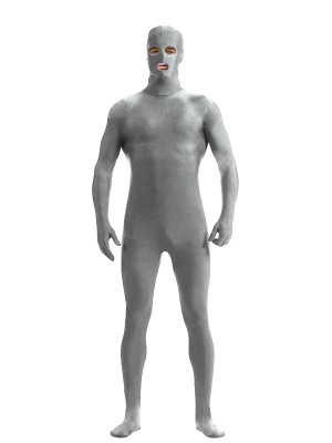 Unisex Pure Color Lycra Spandex Full Body Zentai Suit Eyes and Mouth Open Jumpsuit Bodysuit Cosplay Costume