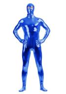 Unisex Shiny Metallic Lycra Spandex Full Body Zentai Suit Eyes Open Jumpsuit Bodysuit Cosplay Costume