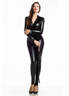 Pure Color Zentai Suit V-neck Catsuit Cosplay Costume