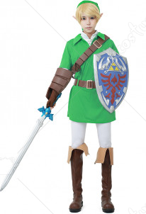 The Legend of Zelda Ocarina of Time Link Cosplay Costume