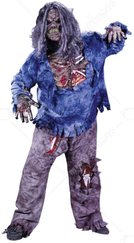 Zombie Costume Plus Size Adult Costume