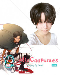 Attack on Titan Levi Cosplay Perruque