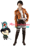Attack on Titan Levi Rivaille Cosplay Costume Jacket