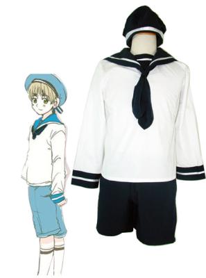 Axis Powers Hetalia Sealand Cosplay Costume