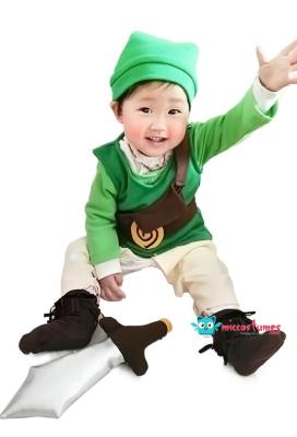 The Legend of Zelda Baby Link Cosplay Costume