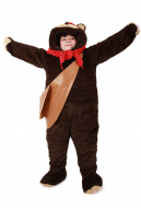 Kids Bear Costume Mascot with Scarf