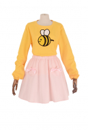 Bee and Puppycat Bee Pink Dress Cosplay Costume