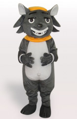 Big Big Wolf Short Plush Adult Mascot Costume