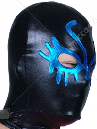 Black And Blue Open Eye Shiny Metallic Hood