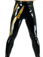 Black And Gold Shiny Metallic Pants