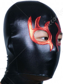 Black And Red Open Eye Shiny Metallic Hood