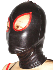 Black And Red Shiny Metallic Open Eye Hood
