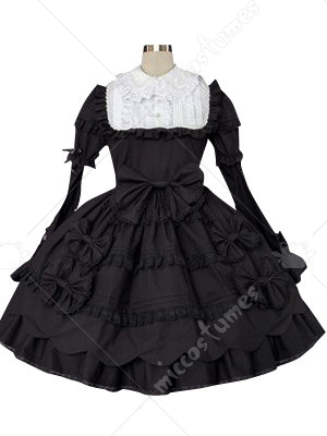 Black And White Classic Lolita Cosplay Dress