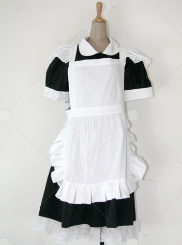 Black And White Maid Lolita Dress