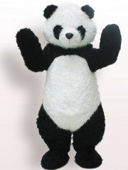 Black And White Panda Plush Adult Mascot Costume