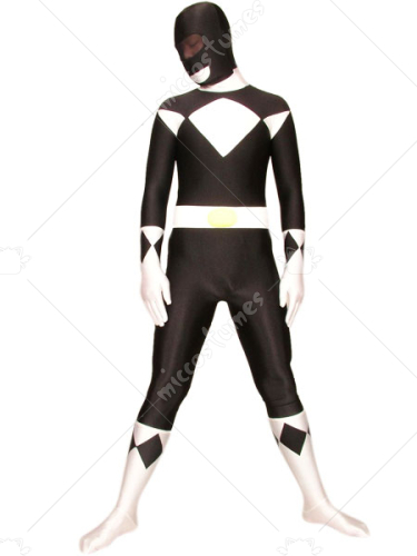 Black And White Space Warrior Baldios Lycra Spandex Super Hero Z