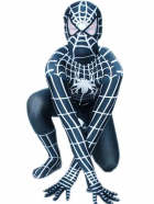Black And White Spiderman Lycra Spandex Super Hero Zentai Suit