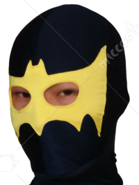 Black And Yellow Open Eye Spandex Hood