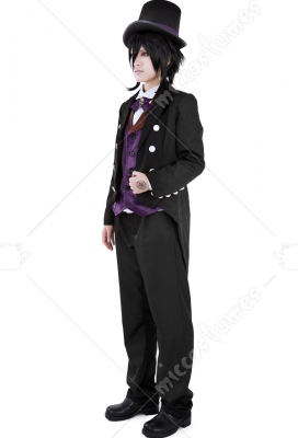 Black Butler Book of Circus Sebastian Cosplay Costume
