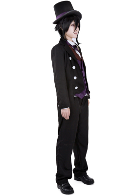 Black Butler Book of Circus Sebastian Cosplay Costume