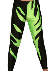 Black Green Spandex Pants
