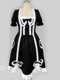 black lolita dress with bows