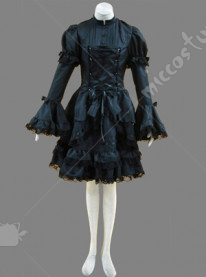 black lolita dress with lace