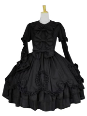 Black Long Sleeves Classic Lolita Cosplay Dress