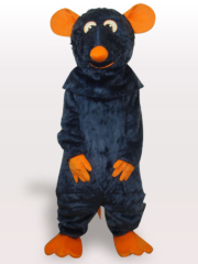 Black Mouse Plush Adult Mascot Costume