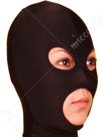 Black Open Eye And Mouth Lycra Spandex Hood