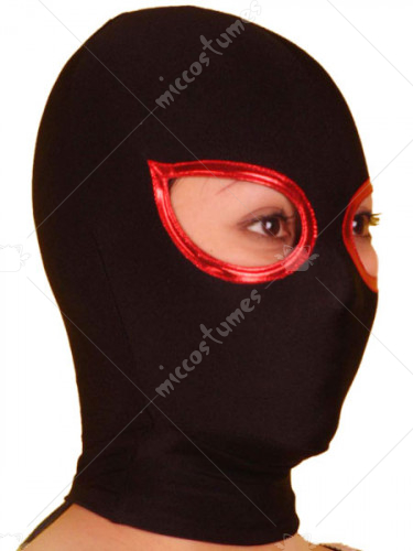Black Open Eye Lycra Spandex Hood