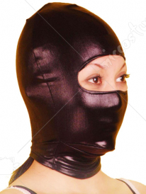 Black Open Eye Shiny Metallic Hood