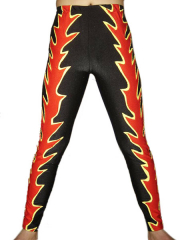 Black Red Spandex Pants