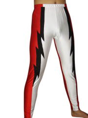 Black Red White Spandex Pants