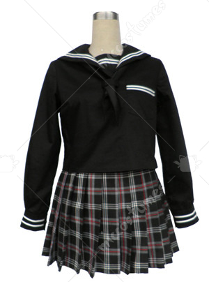 Black Sailor Suit Culture Cosplay Costume