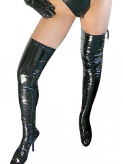 Black Sexy PVC Stockings