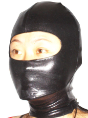 Black Shiny Metallic Open Eye Hood