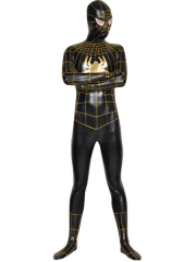 Black Spiderman Superhero Shiny Metallic Zentai Costume
