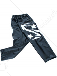 Black Star Pattern PVC Pants