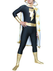 Black The Flash Shiny Metallic Super Hero Costume
