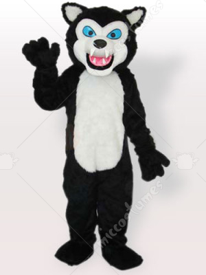 Black Wolf Adult Mascot Costume