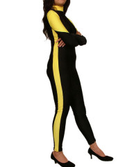 Black Yellow Stripes Spandex Lycra Catsuit
