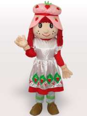 Blackburry Girl Short Plush Adult Mascot Costume