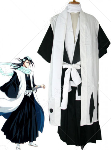Bleach 6th Division Captain Byakuya Kuchiki Cosplay Costume