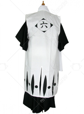 Bleach 6th Division Captain Byakuya Kuchiki Cosplay Costume