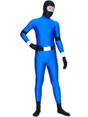 Blue And Black Ninjia Spandex Zentai Suit