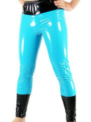 Blue And Black PVC Pants